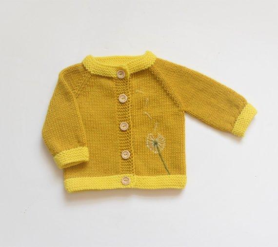 9ca25bbcf Baby girl sweater baby girl jacket dandelion sweater bowball sweater ...