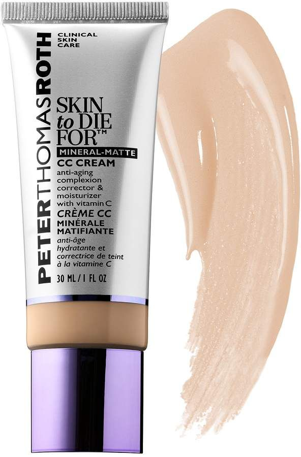 Peter Thomas Roth Skin To Die For Mineral Matte Cc Cream Spf 30 Cc Cream Oily Skin Care Routine Mineral Sunscreen