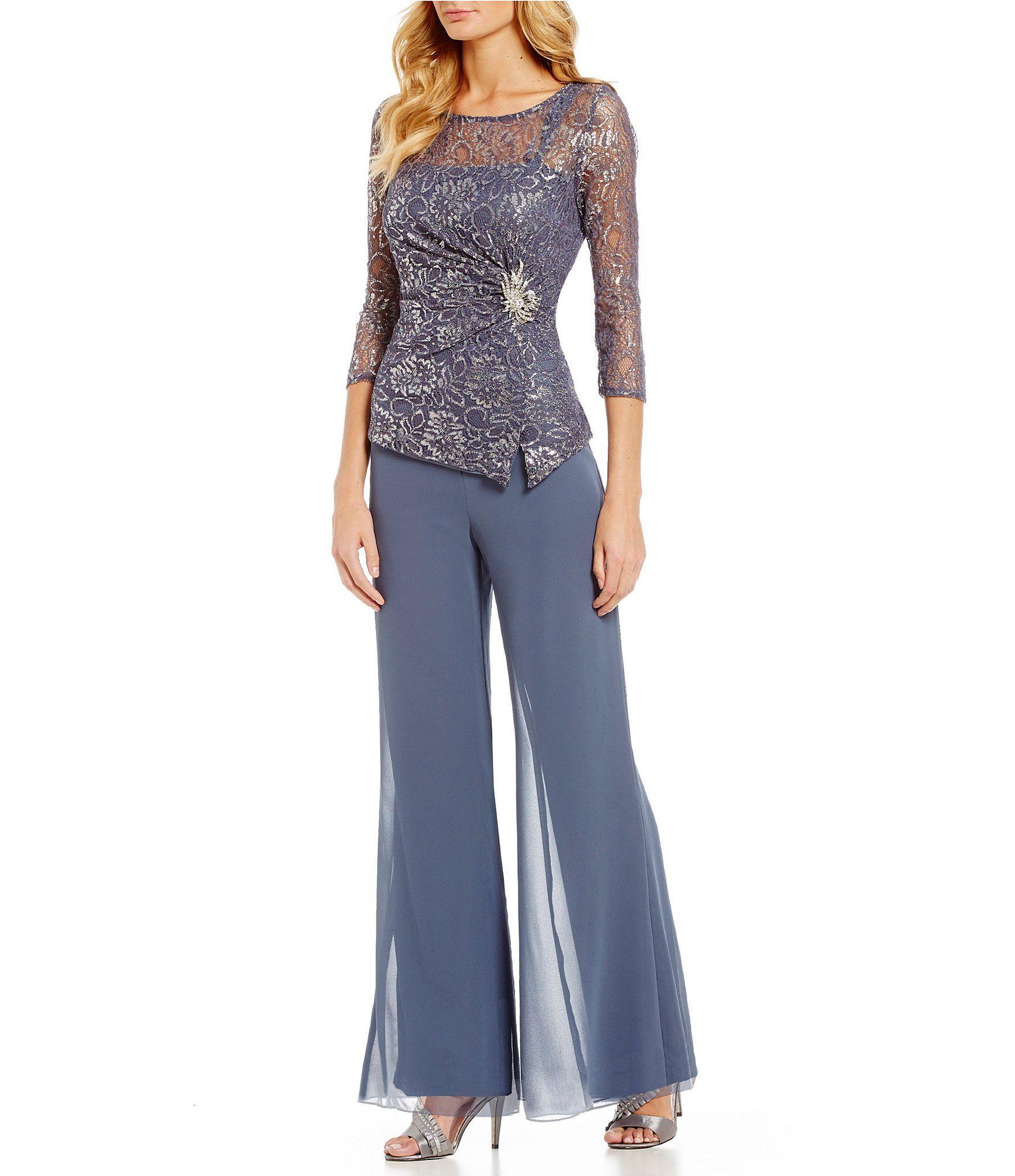 19c42a5fb Emma Street Lace Chiffon 2Piece Pant Set  Dillards Vestidos Elegantes Para  Gorditas