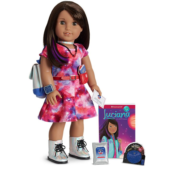 American Girl Mini Luciana Vega Doll Girl of the Year 2018 Plus Mini Book NEW