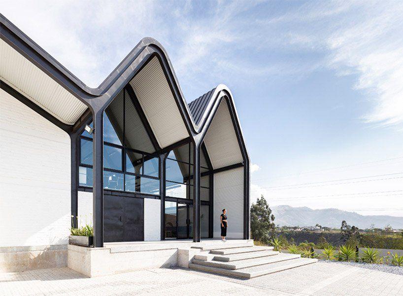 Estudio Felipe Escudero Designs A Series Of Gable Roofs Clad In Black Aluminium Cool Architecture Architecture Gable Roof Design