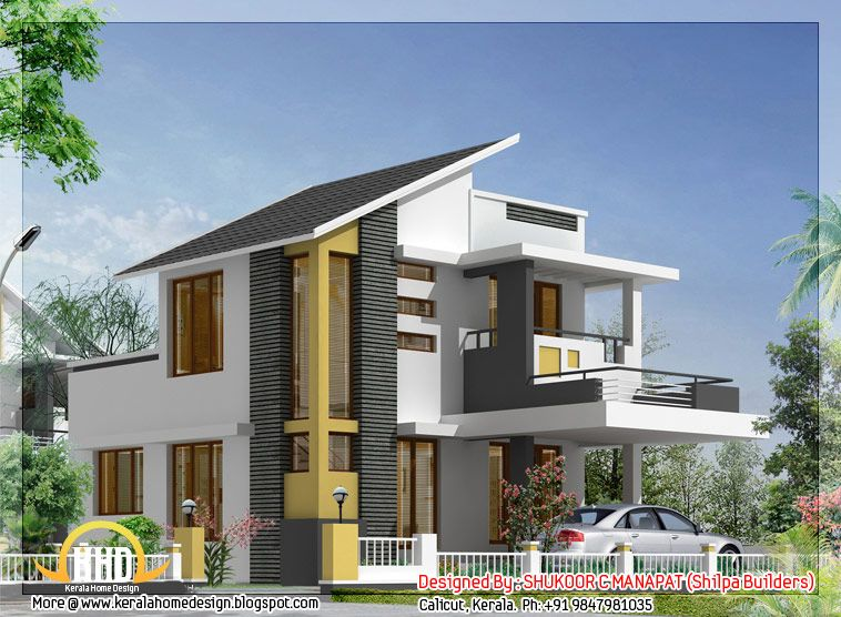 Sq ft bedroom house kerala home design floor plans home for House plans with estimated cost to build in kerala