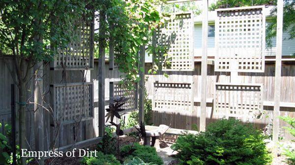 make fence taller gardening