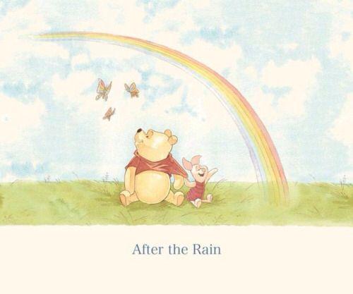 Winnie The Pooh Rain: After The Rain Comes A Rainbow