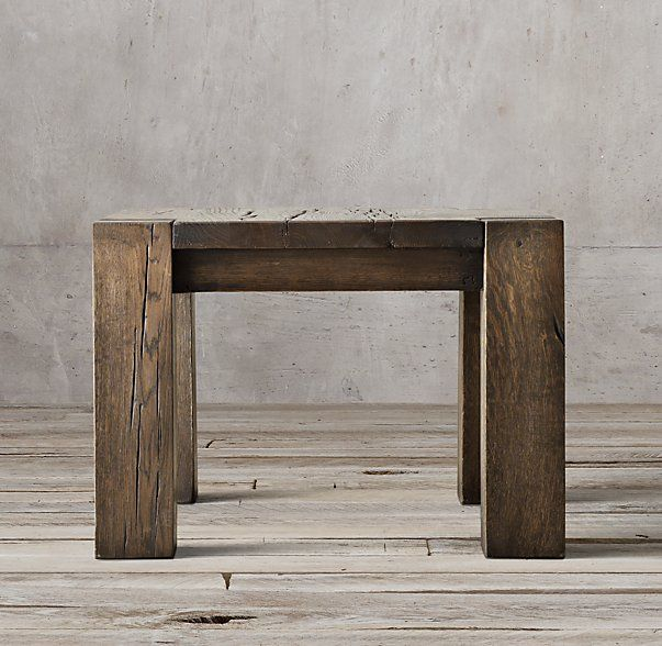 Reclaimed Russian Oak Parsons Side Table   Family Room Earthy in ES ...