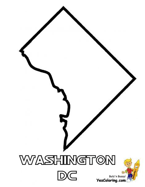 Washington D C Coloring Pages Washington Dc Map Washington Dc