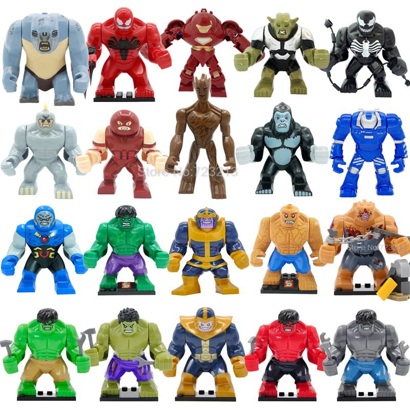 Hulk Lego Figure Marvel Super Dc Mini Minifigure Heroes Big Avengers THANOS Cave