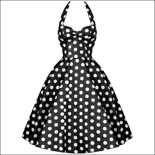 Rockabilly Gals Fashions — 50s ROCK N ROLL DRESS - BLACK