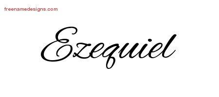 Cursive Name Tattoo Designs Ezequiel Free Graphic Free Name Designs Tatuajes De Nombres Nombres Tatuajes Para Madres