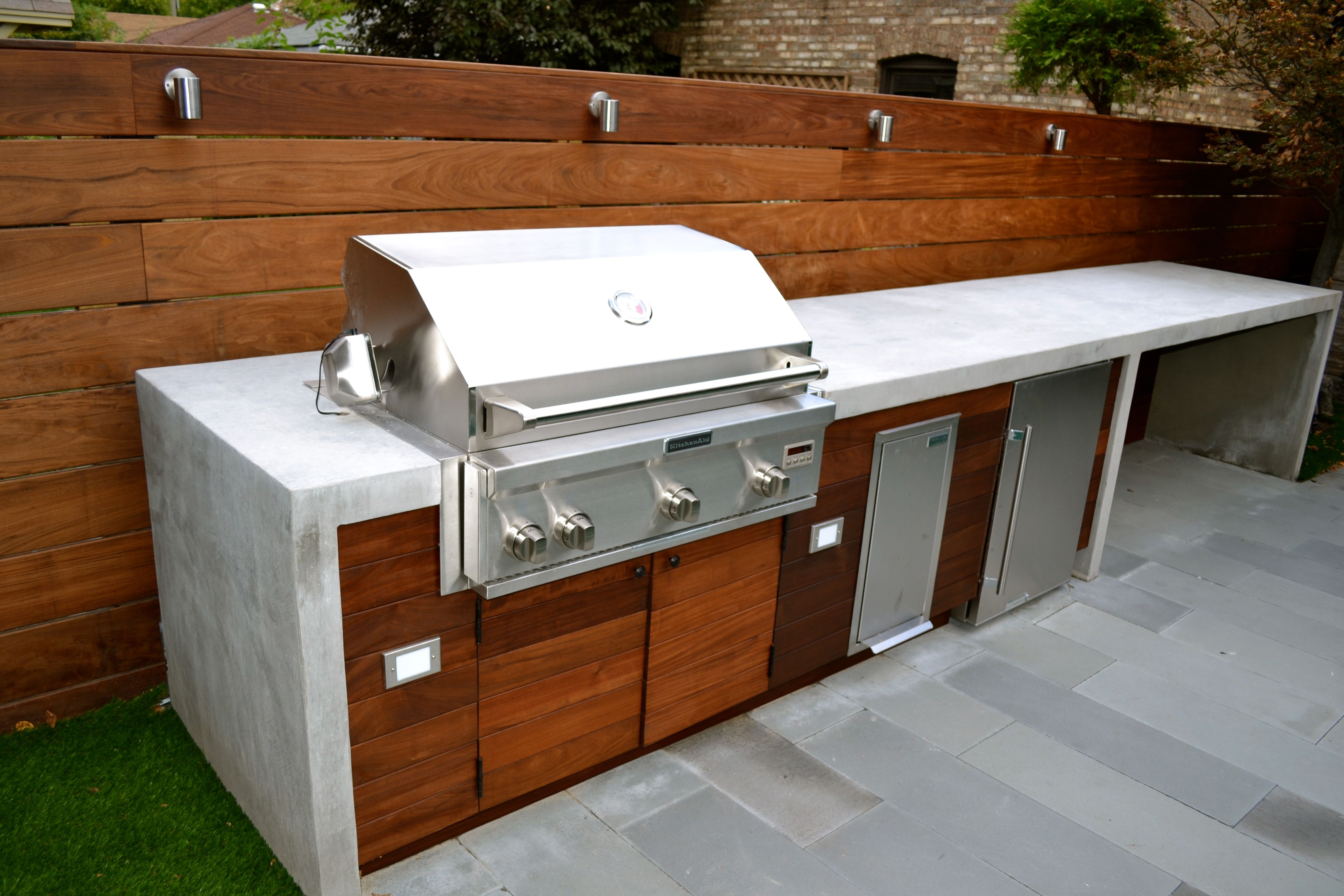 Concrete Countertops Modern Outdoor Kitchen Outdoor Bbq Kitchen