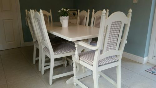 Oak Kitchen Modern Table Chair Sets With 6 Pieces