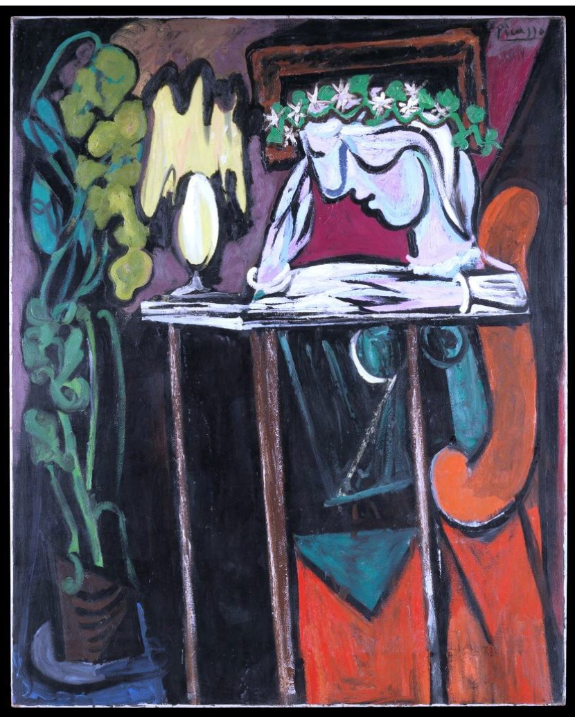 Reading At A Table Pablo Picasso 1934 Picasso Art Art Picasso Paintings