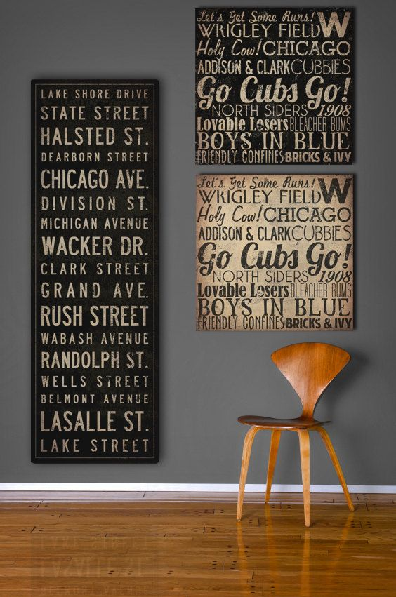 Merveilleux Text Quote City Sign   Custom PERSONALIZED Vintage Style Bus Scroll CANVAS  Wall Art   14x42x1.5 Inches