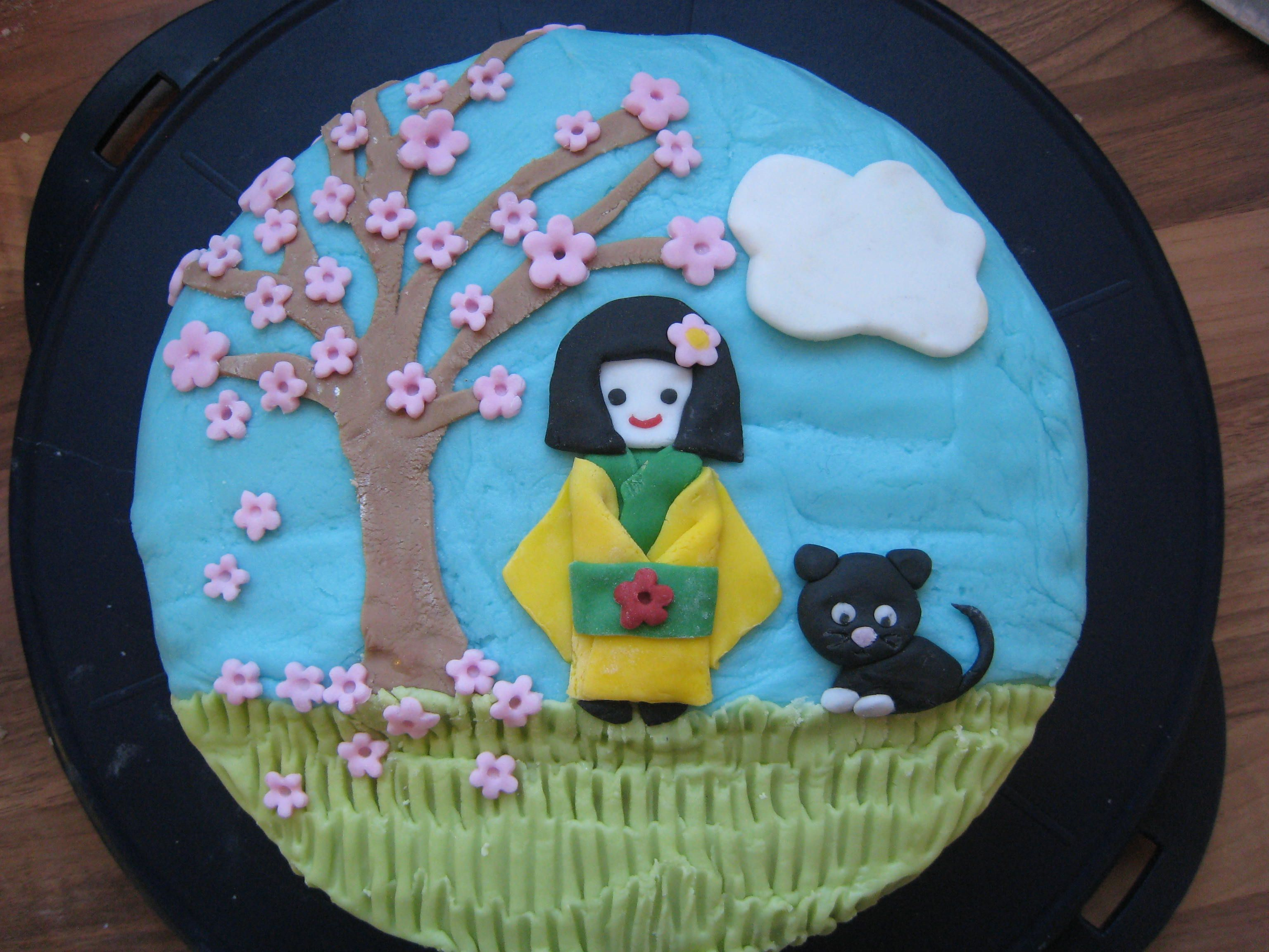 9th Birthday Cake For My Japanophile Girl Birthday Cakes All