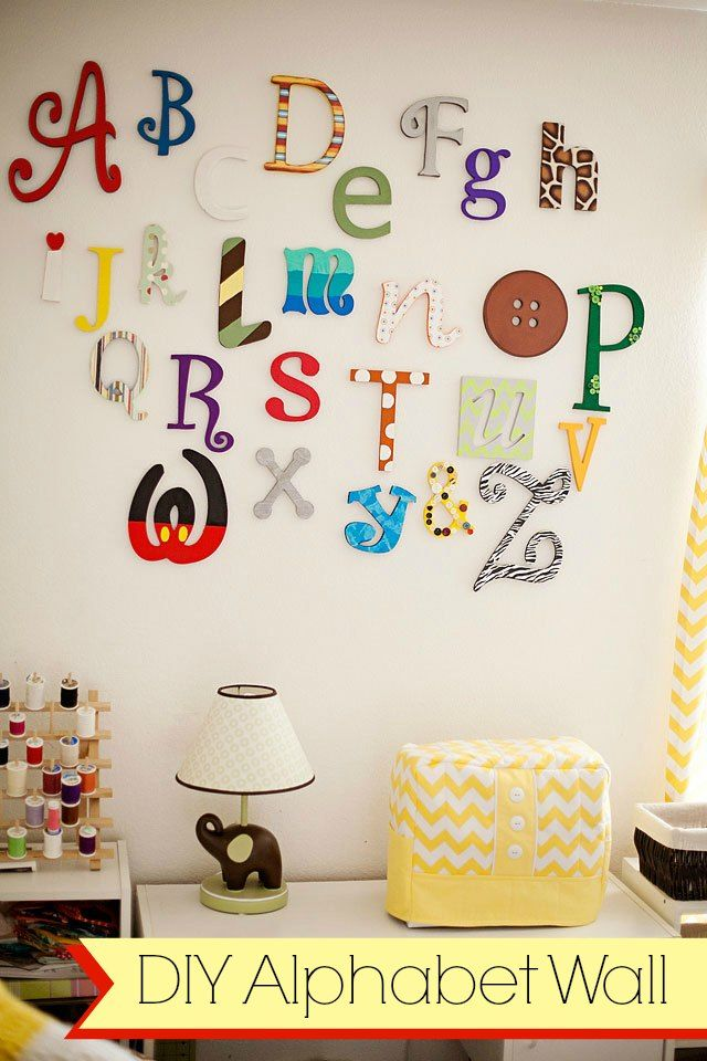 DIY Wooden alphabet wall letters tutorial. playroom