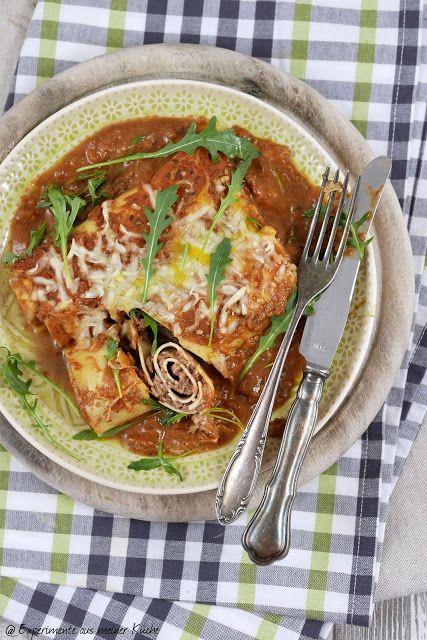 Überbackene Lasagne-Rollen Lasagne, Pasta and Food - experimente aus meiner küche
