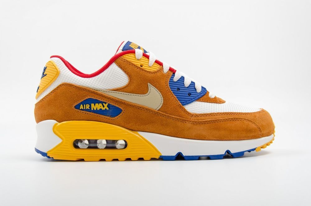 Details about NIKE AIR MAX 90 PREMIUM Curry Yellow White