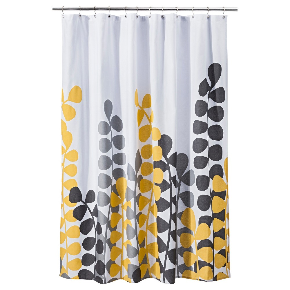 Vine Shower Curtain Yellow Gray Room Essentials Yellow Vine