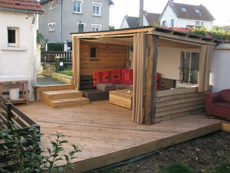 Terrasse bois palette Decking, Spa and Pallets