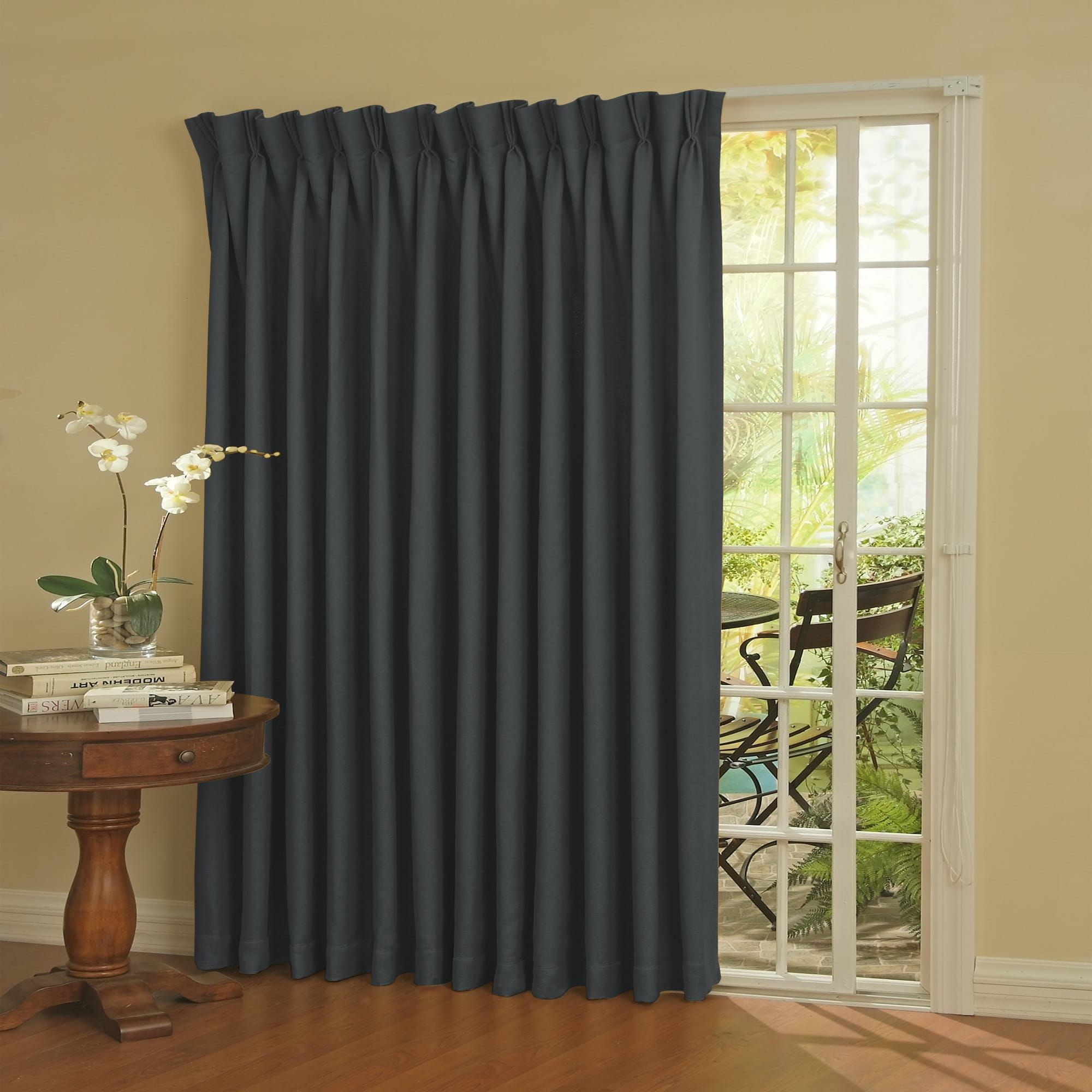 Eclipse Thermal Blackout Patio Door Curtain Panel 100 X 84 Patio Door Curtains Door Curtains Panel Curtains