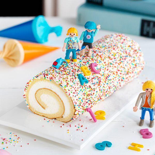 Pimpe Deine Sahne Rolle Passend Zur Einschulung 2 Kuchen Einschulung Dessert Rezepte Einfach Schokoladen Rezepte