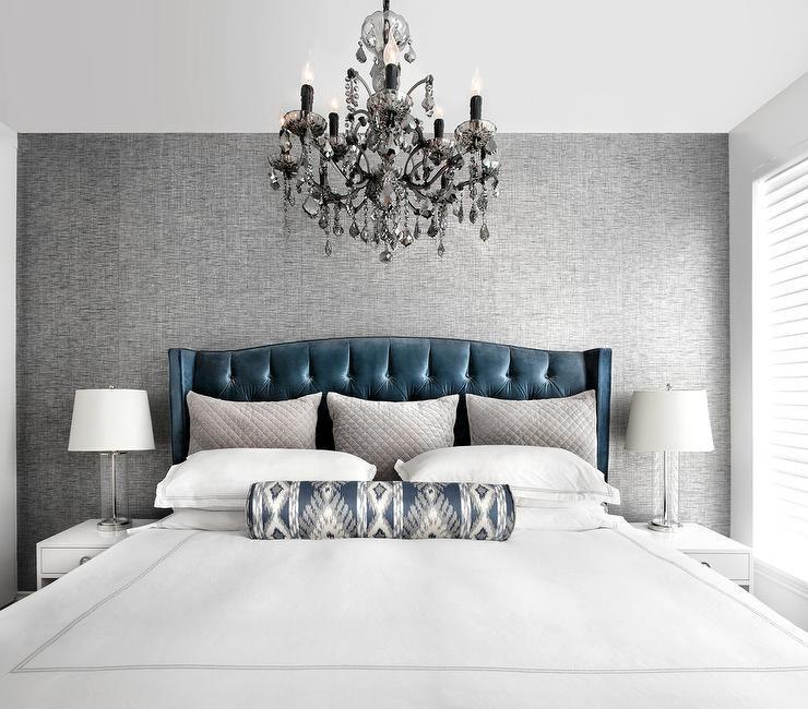Bedroom Decor Ideas Tumblr Bedroom Blue Accent Wall Bedroom Colors Accent Wall Master Bedroom Wallpaper Ideas: Blue And Gray Bedroom