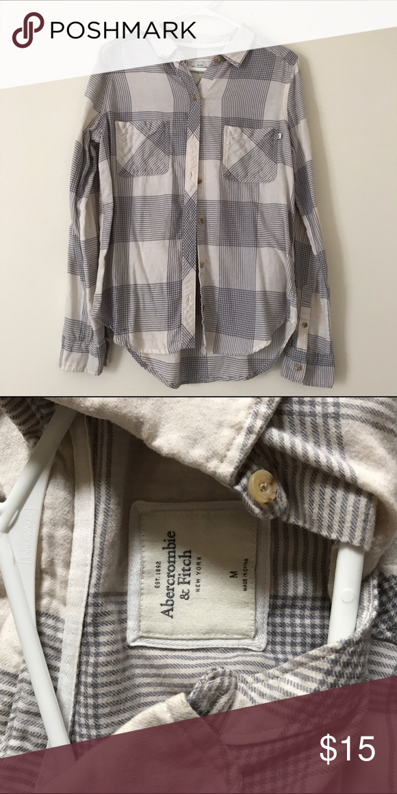 Abercrombie & Fitch Flannel Brand new Abercrombie & Fitch Tops Button Down Shirts