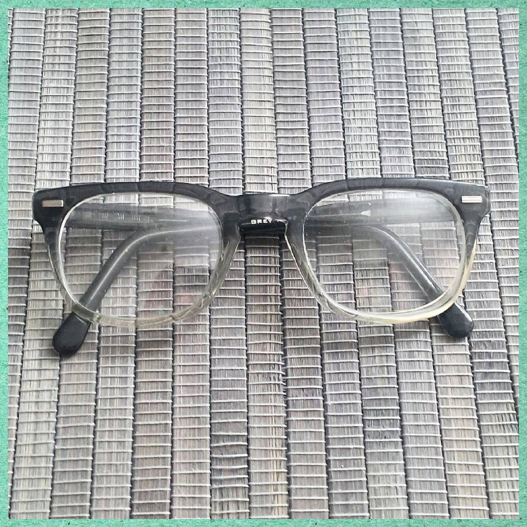 Just frames for glasses -  1950s Grey Fade Glasses Hornrimmedglasses Eyeglasses Eyewear Optical Quality Vintageframes