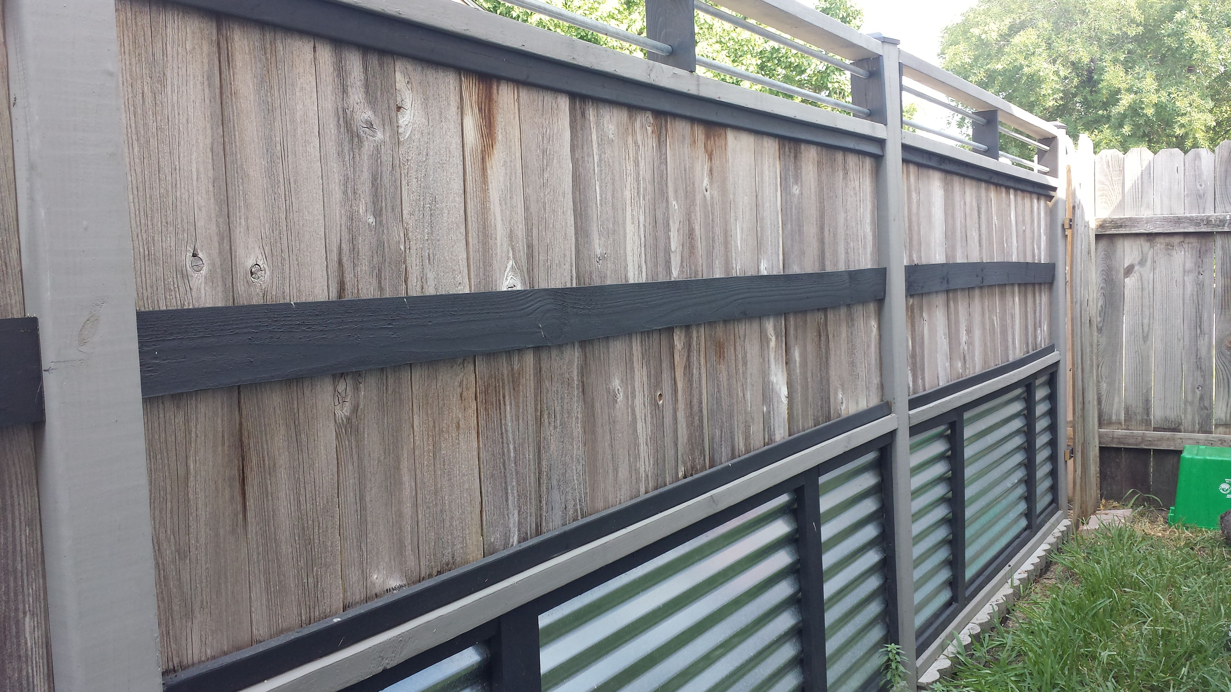 Modern industrial look with conduit, corrugated metal and recycled ...
