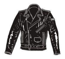 Clipart Black And White Biker Jacket Google Search Jackets Black Leather Jacket Leather Jacket