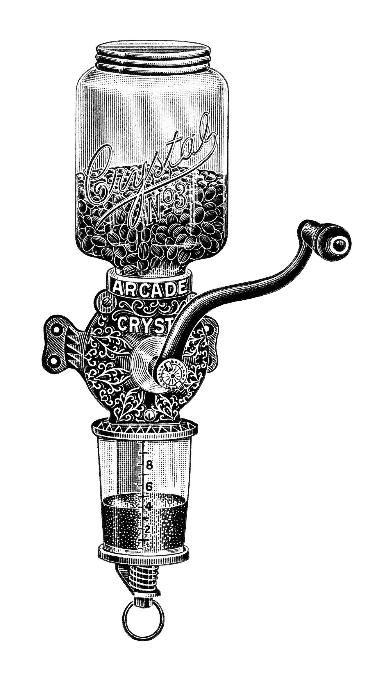 Coffee grinder C. P. Company Antique |Coffee Grinders Antique Label