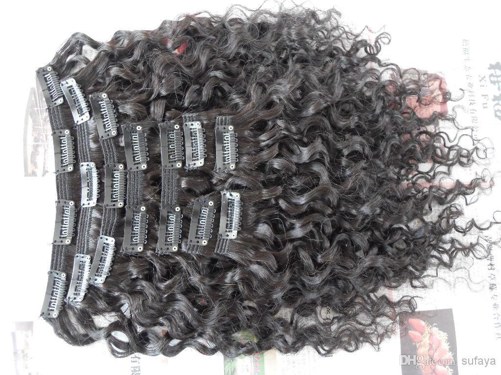 New Style Brazilian Virgin Water Wave Hair Weft Clip In Unprocessed