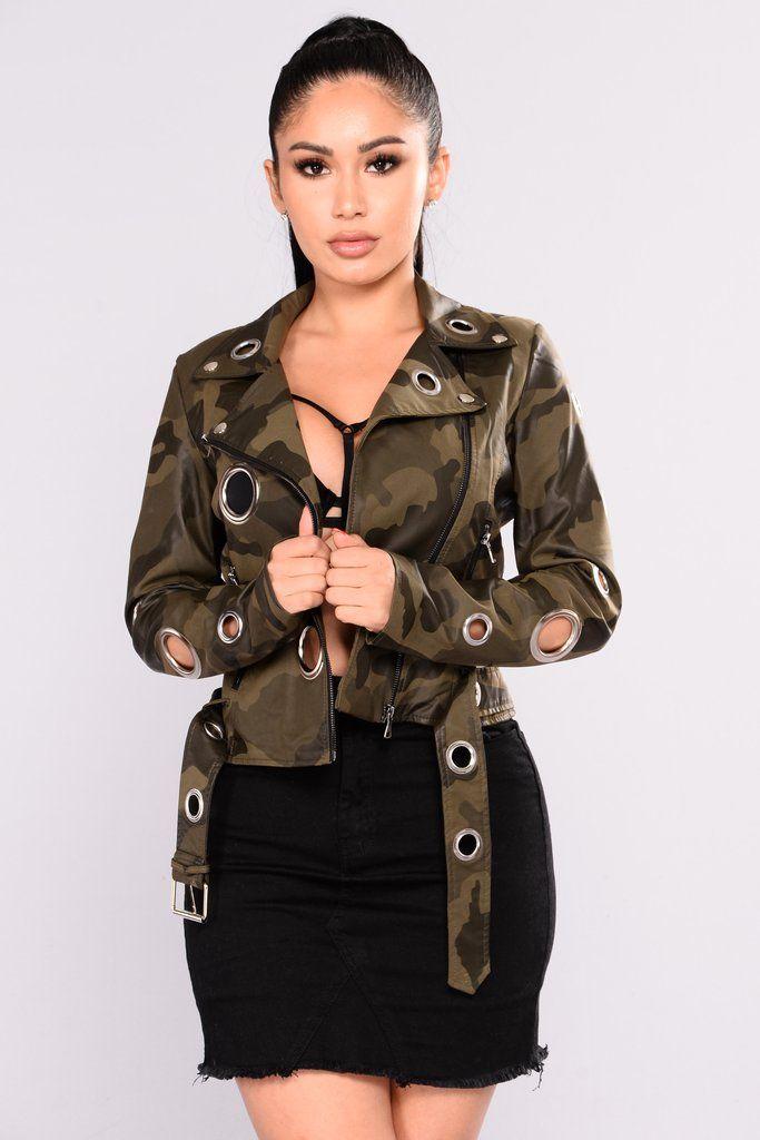 46fff8901003d Get Attention Faux Leather Jacket - Camo | Fashion nova | Faux ...