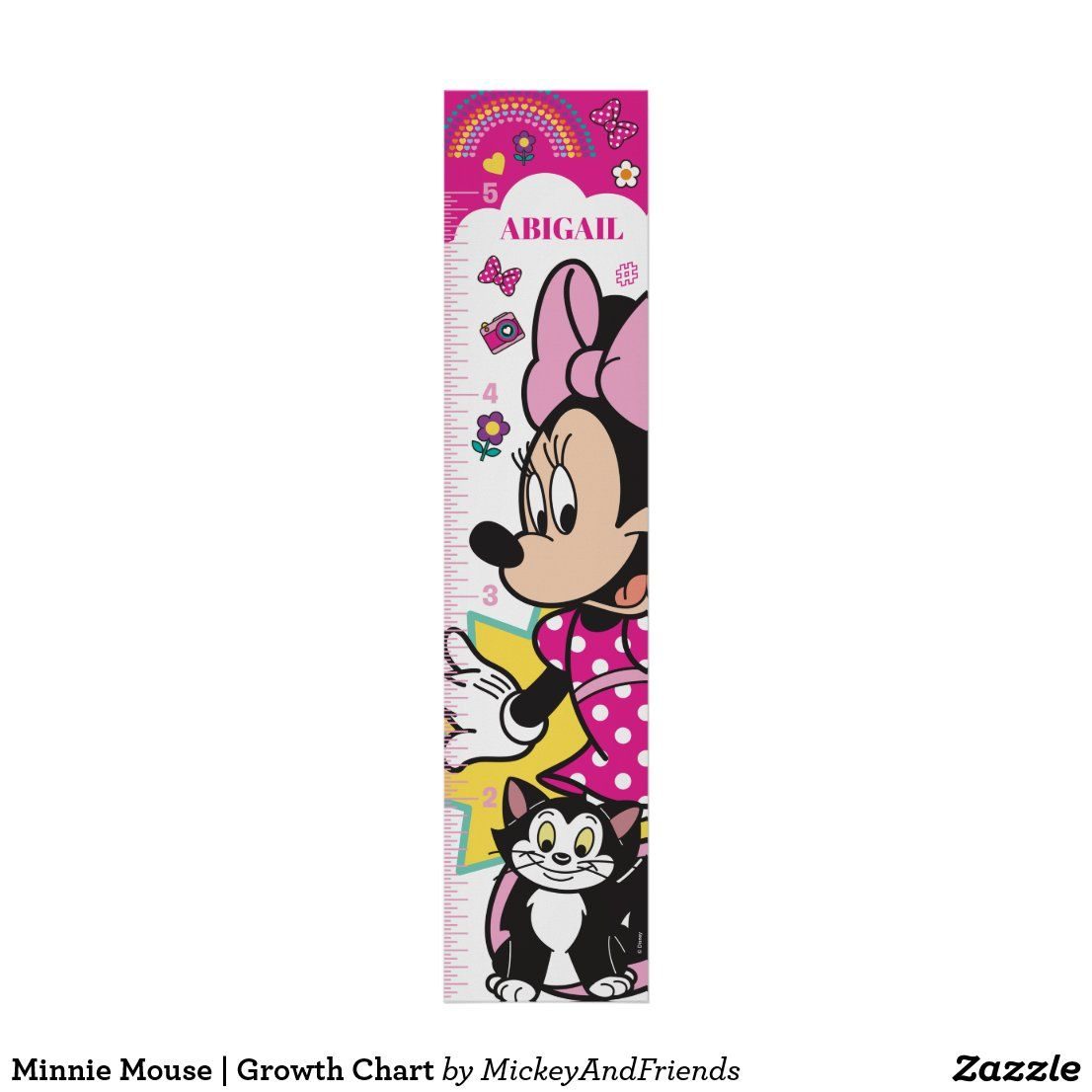 Minnie Mouse | Growth Chart in 2020 | Minnie mouse nursery ...
