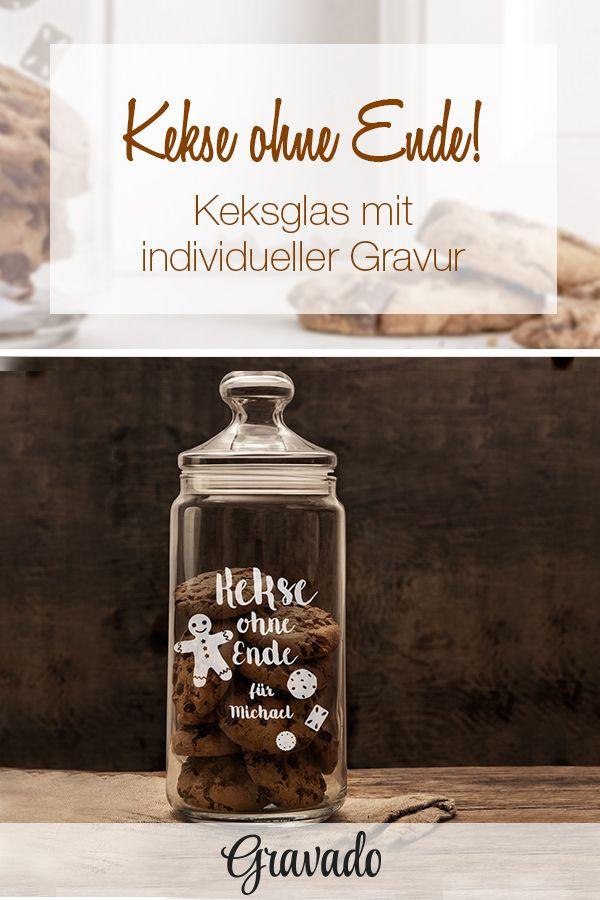 Keksglas mit Gravur - Kekse ohne Ende - Personalisiert | WEIHNACHTEN ...