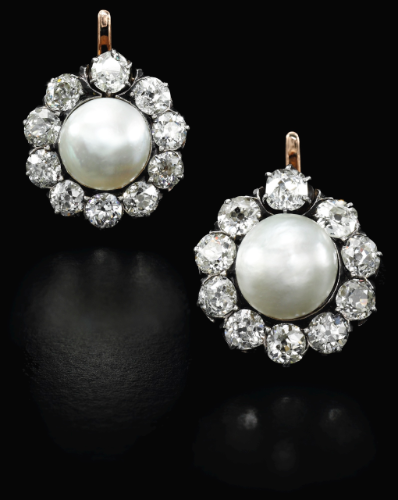 9e1c669e1bf7d ROYAL JEWELS FROM THE BOURBON PARMA FAMILY: Pair of natural pearl ...