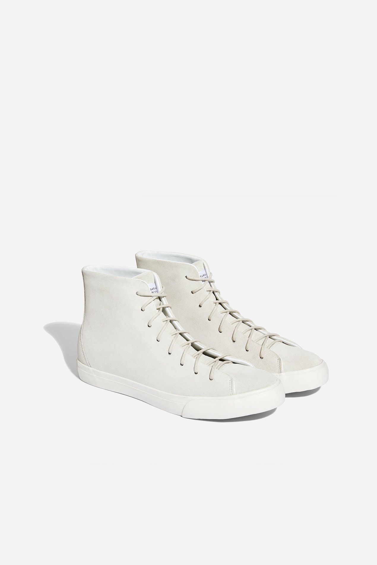 74781121f8d Mike High Suede Sneaker, Ivory | clothes | Suede sneakers, Sneakers ...