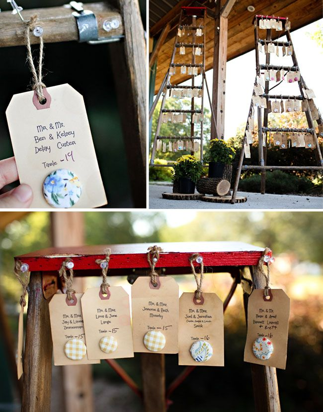 Real wedding jamie jeremys rustic diy wedding place cards cute idea for seating cards find this pin and more on wedding diy solutioingenieria Images