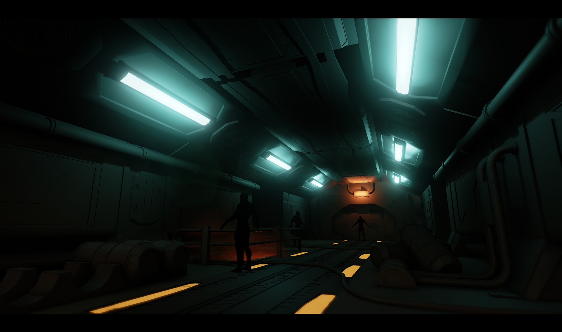UE4] First Project - sci-fi hallway — polycount