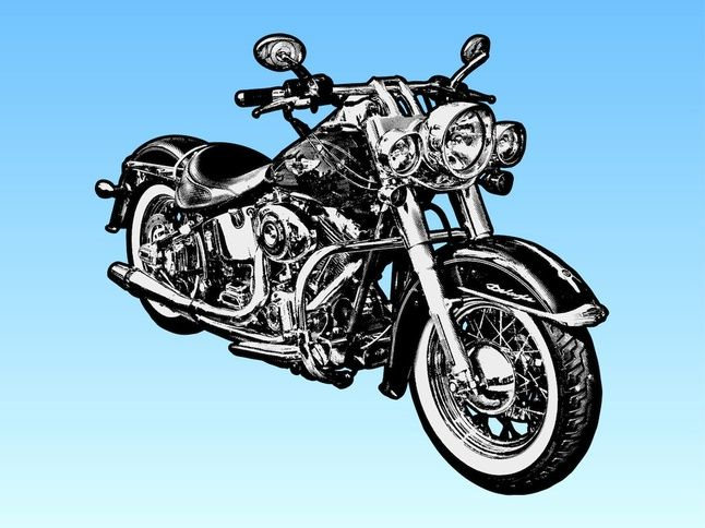 Harley Davidson Motorcycle Harley Davidson Vector Art Motorcycle Clipart