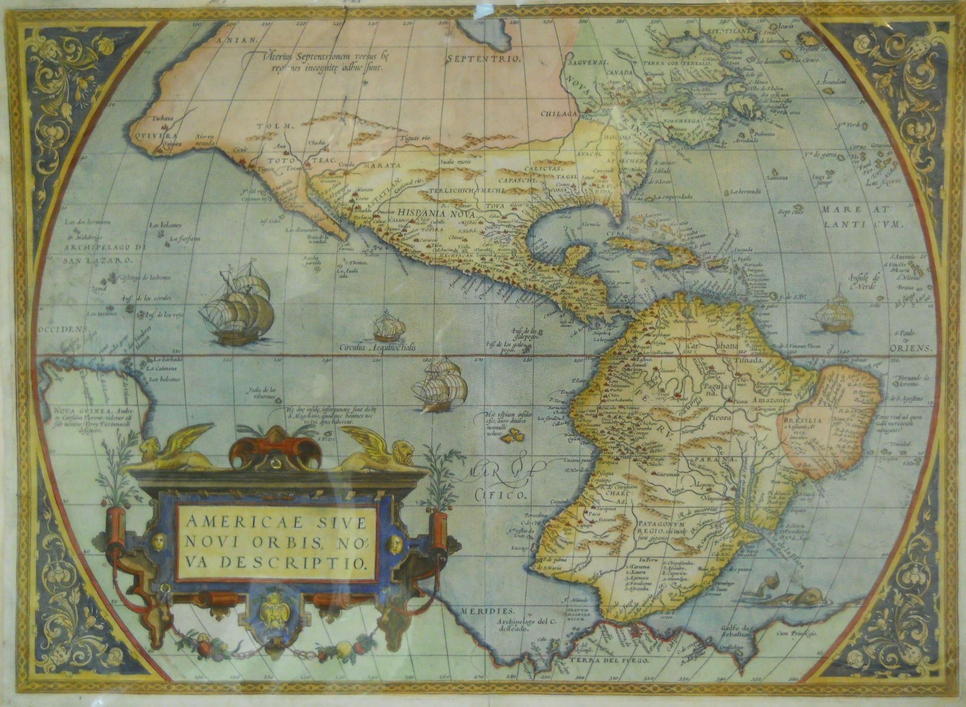 North America Map Outline Printable%0A This beautiful and influential map by Abraham Ortelius is one of the great  maps of the