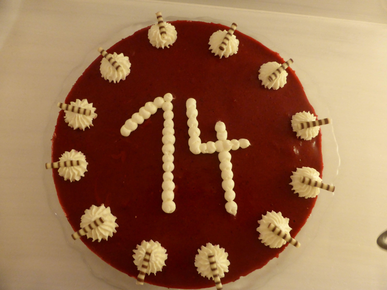 Waldfrucht Schoko Torte zum 14 Geburtstag