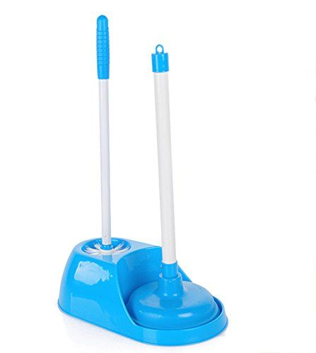 Esylife Durable Toilet Plunger Toilet Brush Plunger And Bowl Brush Caddy Set Blue Details Can Be Found By Clickin Toilet Brush Plunger Bathroom Accessories