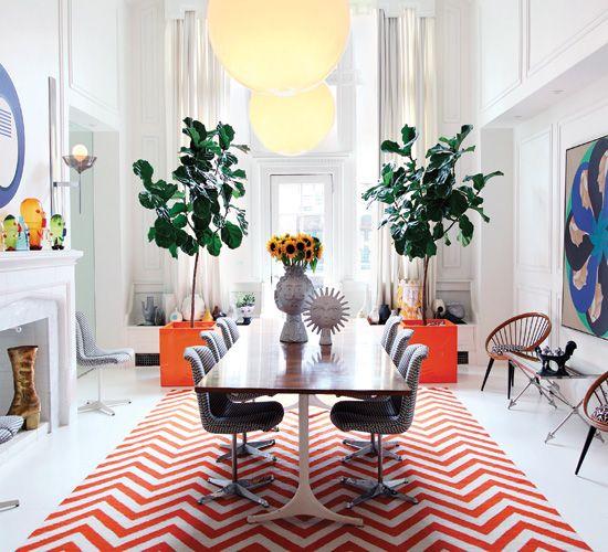 Decorating with Orange Inside Jonathan Adler's Home - Pure Inspiration