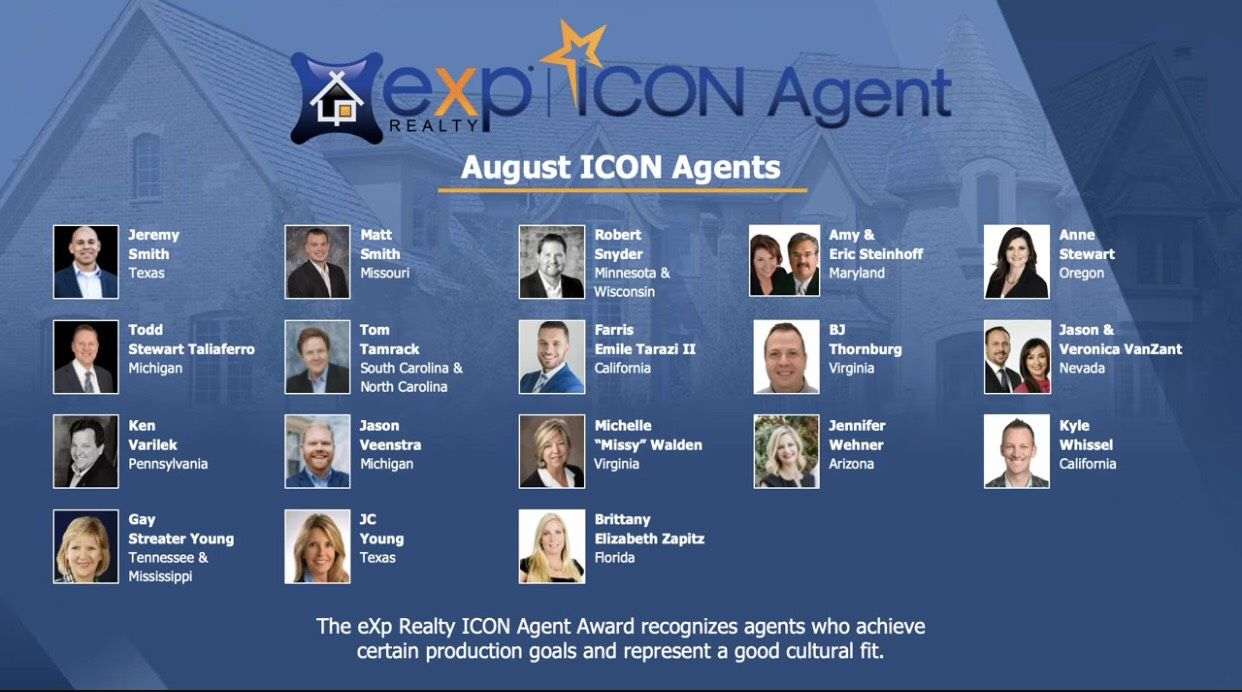 So proud to be named an ICON agent by this amazing company