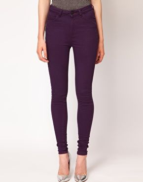 Just Female Coloured High Waisted Skinny Jeans   My Style ... fe74a3f077e1