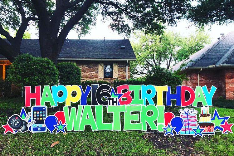 Card My Yard Home in 2020 Birthday yard signs, Happy