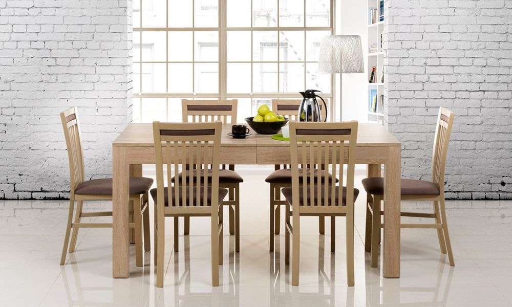 Weisse Tische Und Stuhle Passen Zu Den Stil Vintage Und Die Tische In Der Farbe Eiche Sonoma Eignen Sich Perfekt Fur E Tisch Und Stuhle Esstisch Esszimmertisch