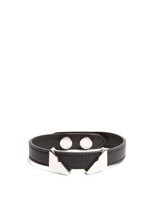 aa90bce369cd FENDI Bag Bugs Leather Bracelet.  fendi  bracelet