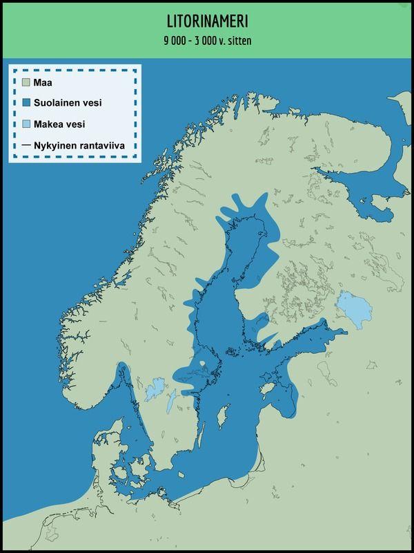 Kuvahaun Tulos Haulle Yoldiameri Kartta Kartta Maa Vesi